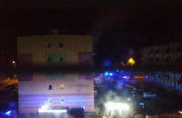 Pożar w mieszkaniu na Stogach