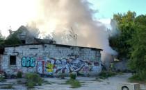 Pożar pustostanu na Ujeścisku. Strażacy na...