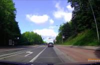 Wyprzedzanie na lewoskręcie, skrzyżowaniu i przekroczenie linii ciagłej.