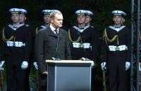 Tusk i Adamowicz na Westerplatte