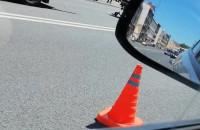 Skutki wypadku motocyklisty na Trakcie św. Wojciecha