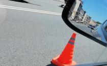 Skutki wypadku motocyklisty na Trakcie św....