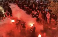Lechia Gdańsk - feta kibiców i piłkarzy po derbach Trójmiasta