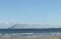Pożar złomowiska samochodów w gdańskim porcie