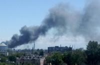 Pożar na terenie portu