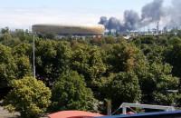 Dym obok Stadionu Energa