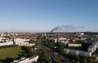 Pożar składowiska złomu w Porcie Północnym