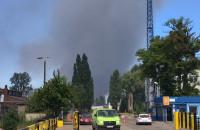 Pożar na terenie gdańskiego Portu