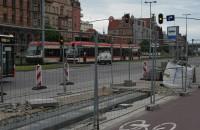 Prawie wjechał pod tramwaj