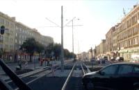 Torowisko tramwajowe po remoncie