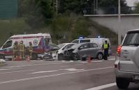 Wypadek na skrzyżowaniu Drogi Różowej z Wielkopolską