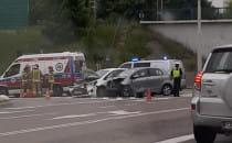 Wypadek na skrzyżowaniu Drogi Różowej z...