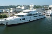 Luksusowy superjacht przypłynął do Gdyni