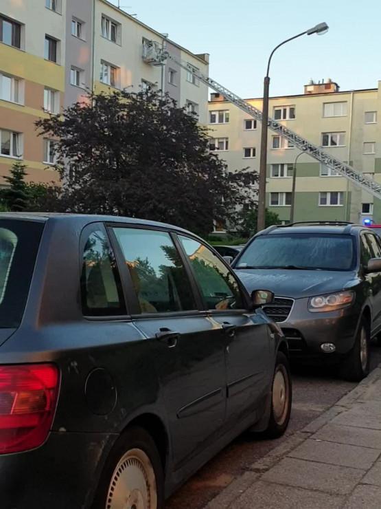 Pożar przy ul. Cebertowicza