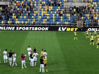 Arka Gdynia - Zagłębie Lubin 3:2. Piłkarze i kibice po meczu