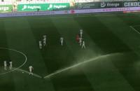 Lechia Gdańsk - Piast Gliwice 1:0. Zraszacze i trybuny
