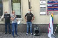 Manifestacja środowiska LGBT na Targu Drzewnym
