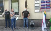 Manifestacja LGBT pod biurem PiS w Gdańsku