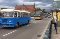 Protest przewoźników autokarowych w Gdańsku