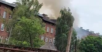 Akcja gaśnicza na Długich Ogrodach w Gdańsku