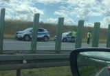 Skutki wypadku na autostradzie w kierunku Gdańska