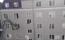 Straż pożarna na ul. Igielnickiej. Ulica...
