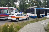 Stłuczka na skrzyżowaniu ul. Świętojańskiej w Gdyni