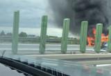 Pożar na obwodnicy w kierunku Gdyni