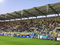 Kibice na meczu Arka - Górnik