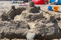 Najpiękniejsza forteca z piasku na plaży