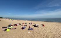 Medytacja na plaży w Brzeźnie