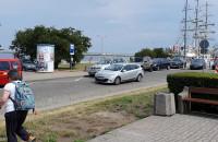 Straż miejska zaklada blokady na Skwerze Kościuszki