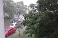 Gdańsk - Przymorze  intensywne opady ...