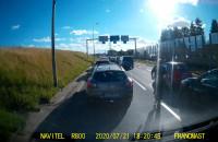 Agresywne zachowanie kierowcy na Armii Krajowej