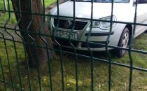 Zaparkował na trawniku