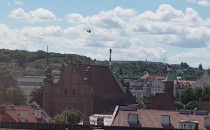 Śmigłowiec LPR ląduje w centrum Gdańska