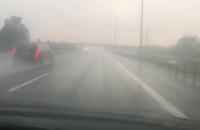 Ulewa na S7 przed Gdańskiem