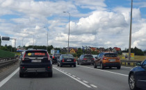 Korek od A1 w stronę Karczemek