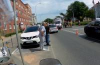 Wypadek z udziałem motocyklisty na Kartuskiej