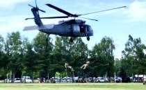 Helikopter policyjny na Matarni
