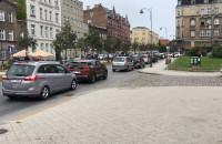 Korki na Łąkowej po otwarciu nowego skrzyżowania