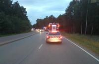 Wypadek motocyklisty na Sucharskiego