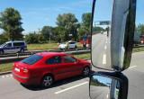 Wypadek i korek na Trasie Sucharskiego