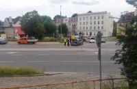 Kolizja na Trakcie św Wojciecha w kierunku Gdańska