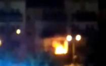 Nocny pożar na Fikakowie