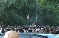 Koncert Żabsona na parkingu w Brzeźnie