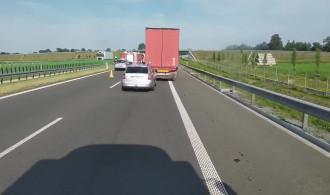 Zderzenie dwóch pojazdów przed Nowym Dworem w stronę Gdańska