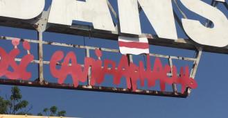 """""""Solidarność"""" po białorusku na bramie stoczni"""