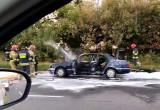 Pożar mercedesa na Armii Krajowej