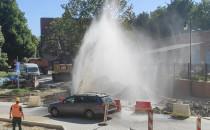 Awaria wodociągowa przy Augustyńskiego w...